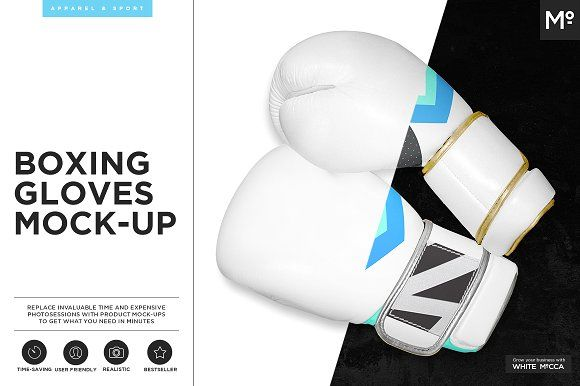 Boxing Gloves Mock-up by Mocca2Go/mesmeriseme on @creativemarket