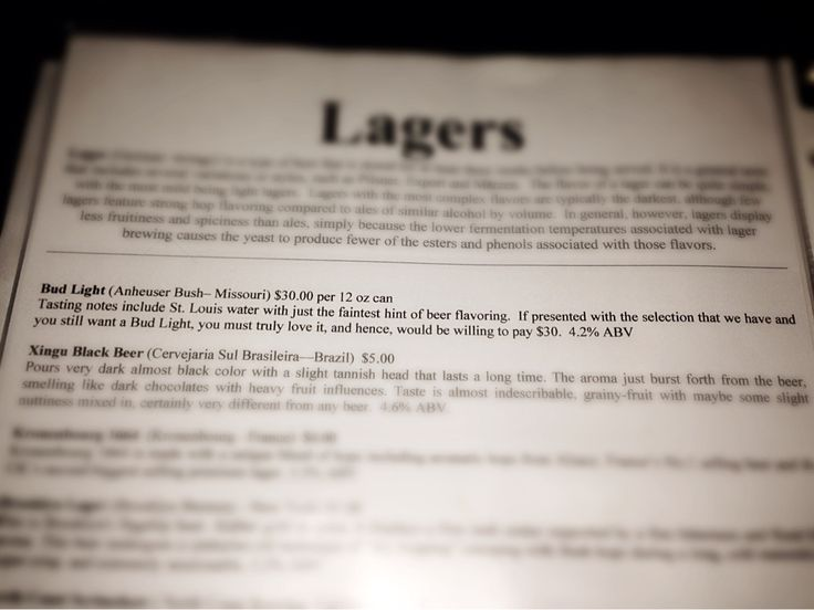 Saw this gem in the menu of a local brewery. - Imgur