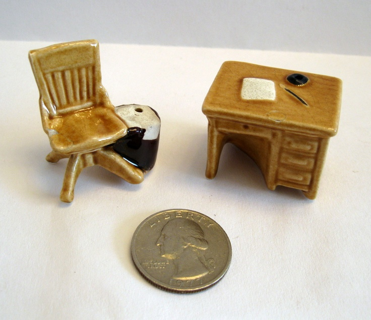 Office Desk Chair Arcadia Mini Salt Pepper Shakers Miniature