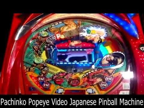 Pachinko Popeye Video Japanese Pinball Machine