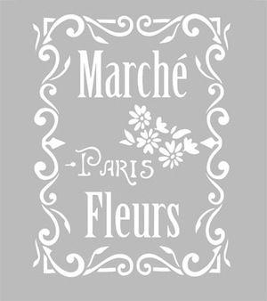 Pochoir Adhésif 30 x 20 cm MARCHE PARIS