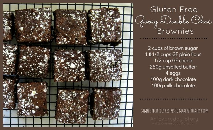 Gluten Free Gooey Double Choc Brownies