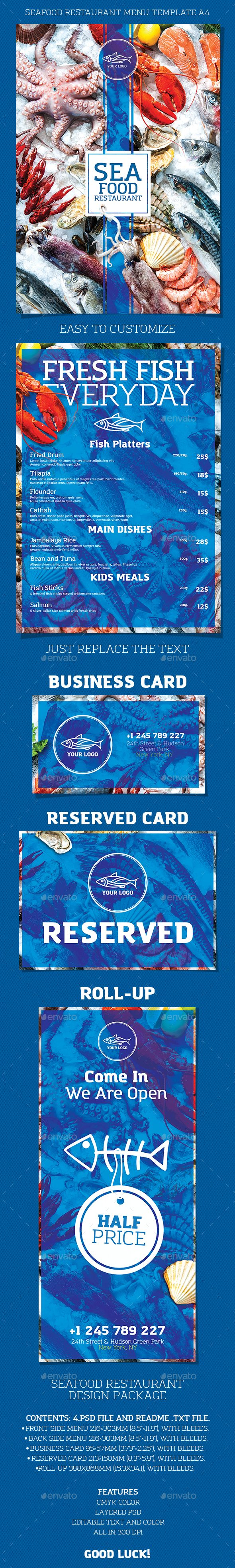 Seafood Restaurant — Photoshop PSD #seafood #template • Available here → https://graphicriver.net/item/seafood-restaurant/18245466?ref=pxcr