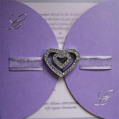 Ref Kgaogelo jewellery Purple ( we can do any colour) www.weddingcards.co.za