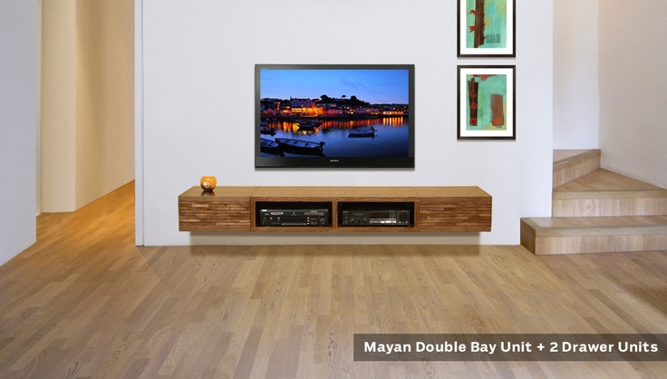Pictures of Wall Mounted TV Console - Mayan Mocha