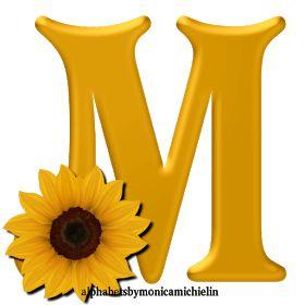 Monica Michielin Alphabets: YELLOW FLOWER SUNFLOWER ...