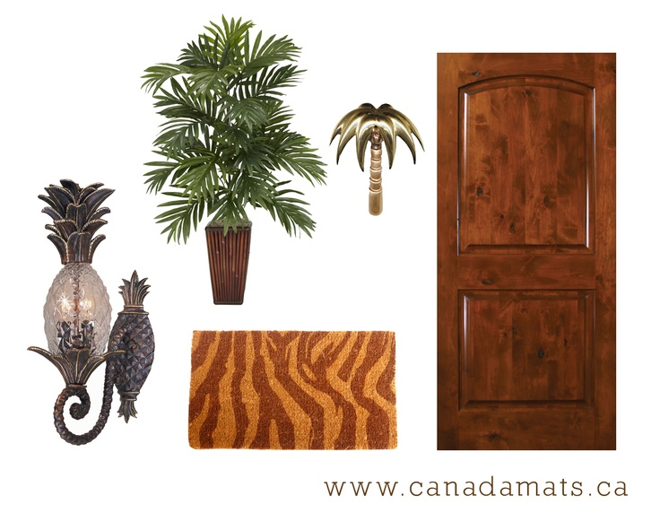 Tropical Front Door Decor