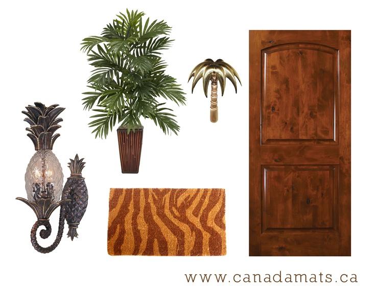 Tropical Front Door Decor