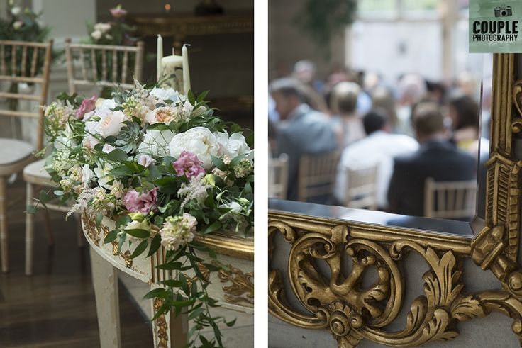 The wedding ceremony. Weddings at Tankardstown House by Couple  Photography.