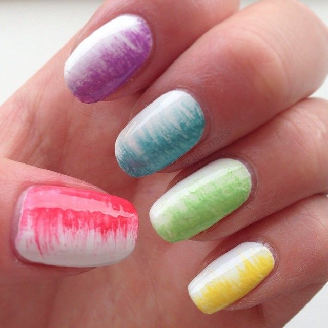 Simple fanbrush rainbow 🌈 #essie #ilnpfeature #staypolished #simple #rainbow #fanbrush #fanbrushnails #ranbowified #notd #nofilter #new #nails #nailart #nailporn #naildesign #nailpolish #polish #pretty #girl #girly #cute #aww #awesome #nice #amazing #opi #white #diy #design #power