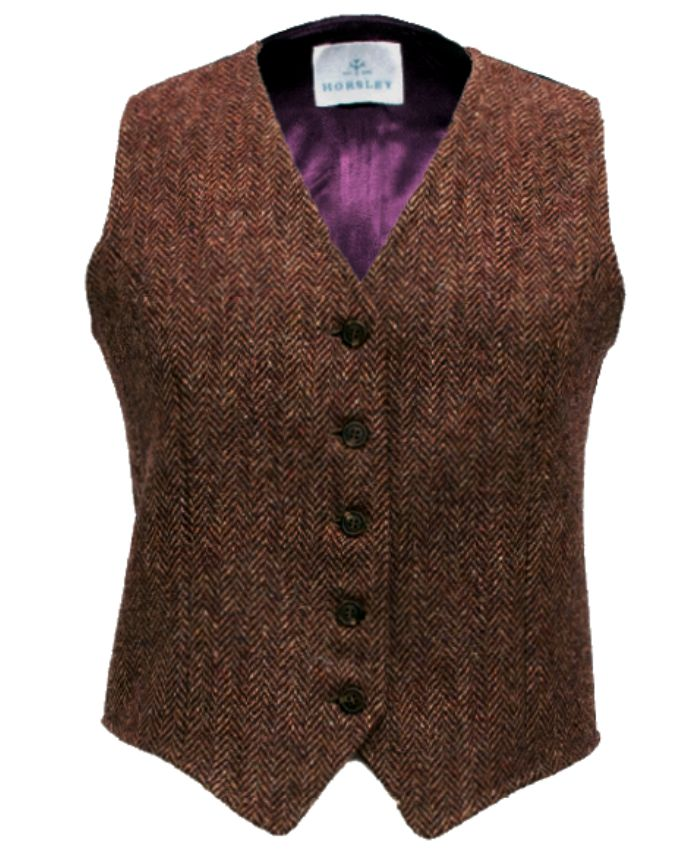 Traditional Ladies Harris Tweed Waistcoat, the Crawford Waistcoat from the Harris Tweed Shop