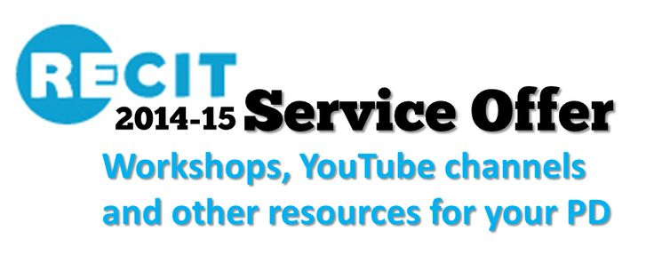 RECIT Provincial and Regional Services for General Adult Education *** 2014-15 Service Offer. Free for Quebec teachers (General Adult Education teachers have priority when space is limited).