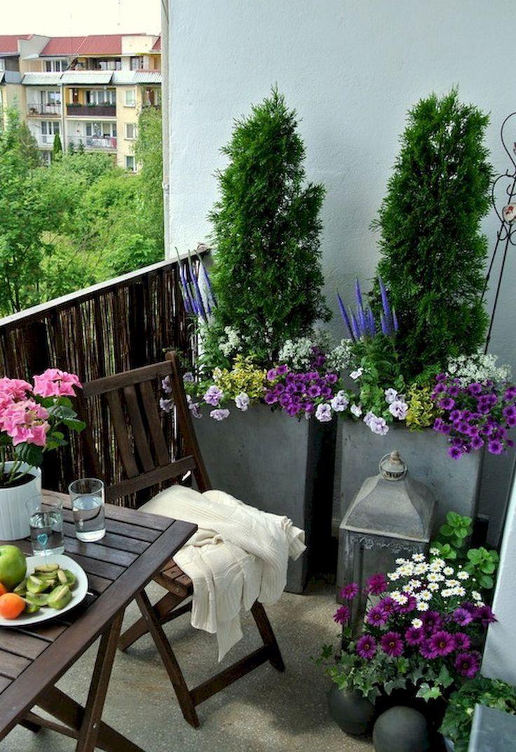 Entzückende 80 kleine Balkonwohnung-Dekorationsideen auf einem Etatdekorapartment