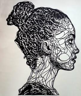 papercut portraits by kris trappeniers via ofpaperandthings.blogspot.com