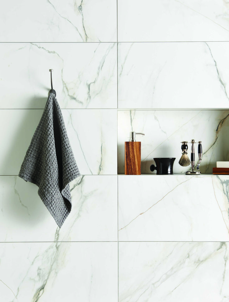 bianco paonazzetto natural is a wall tile designed to match the existing porcelain floor tile from marble bathroomskid