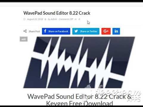 wavepad sound editor with crack