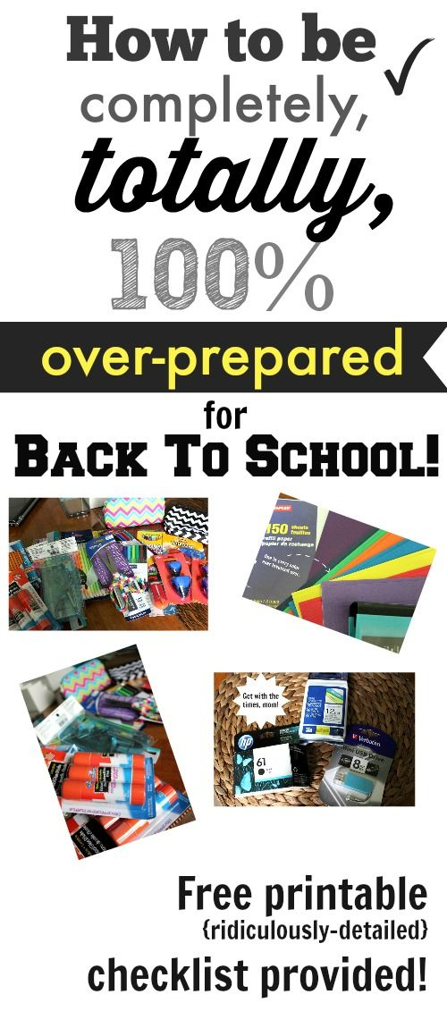 A great guide and checklist to get you completely prepared for anything that comes your way this school year!
