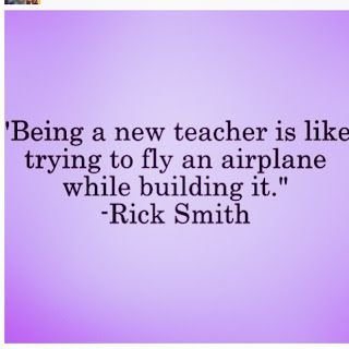 Apples and ABC's: Being a new teacher is like trying to fly an airplane while building it.
