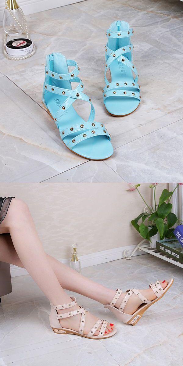 Women summer flats fashion slip on soft comfortable beach