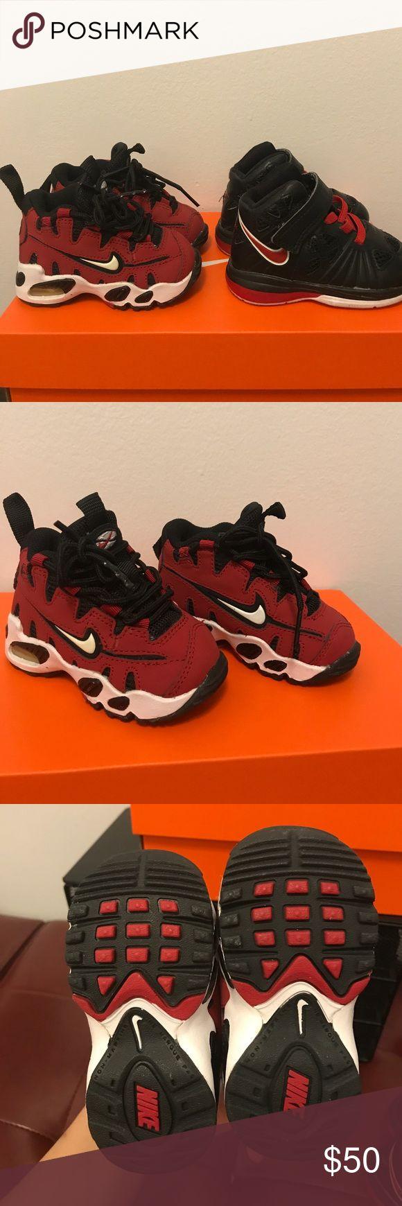 Bundle 2 baby Nike sneakers 👶🏽 2 baby sneakers size 4C Both Nike Shoes Baby & Walker