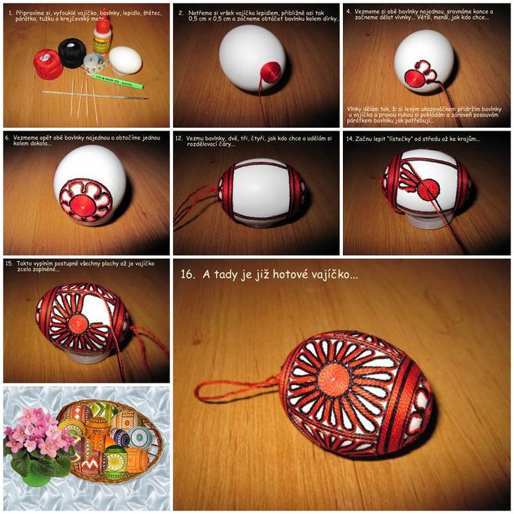 DIY Decorated Easter Eggs with Threads  https://www.facebook.com/icreativeideas