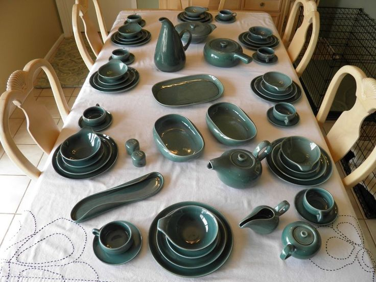 64 Piece Russel Wright American Modern Dinnerware by Steubenville Seafoam MINT! #Steubenville & 75+ best Russel Wright images by Barbara Denton on Pinterest ...
