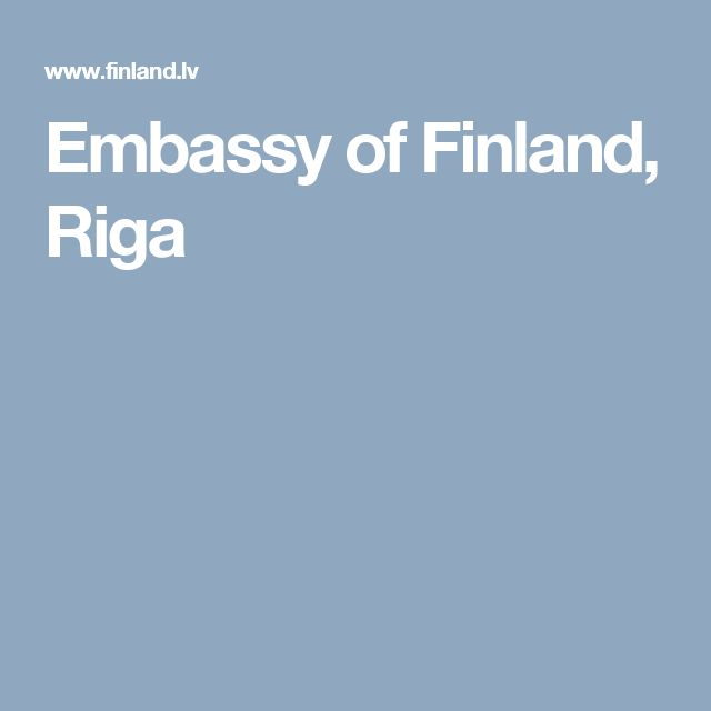 Embassy of Finland, Riga