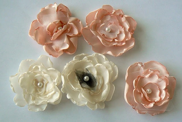 how to make flowers with satin cloth