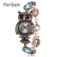 2017 Vintage Coruja Moda Feminina Pulseira de Quartzo Relógios de Luxo Da Marca Relógios de Grife Relógio Bonito Relógio de Presente Menina(China (Mainland))