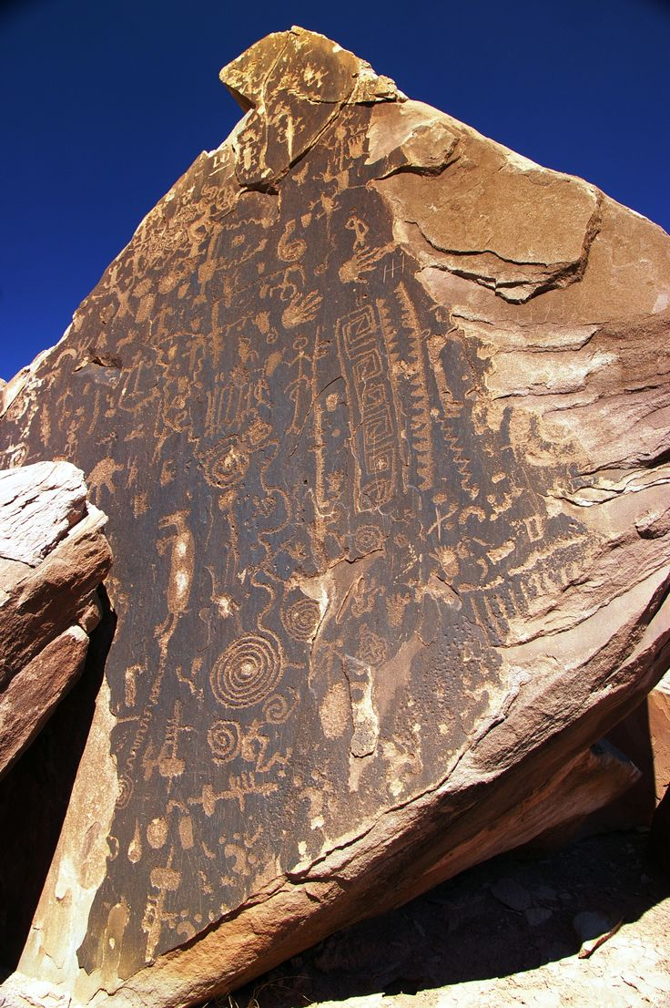 Petroglyph and Pictograph Gallery - Petrified Forest National Park, Arizona.  Go to www.YourTravelVideos.com or just click on photo for home videos and much more on sites like this.