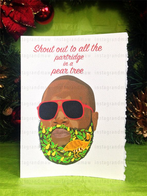 Rick Ross Partridge Christmas card