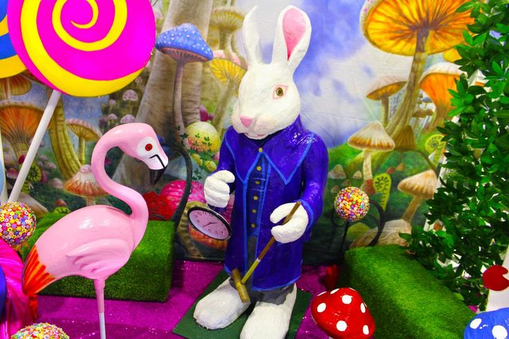 Alice In Wonderland Theme - Sydney Prop Specialists, rabbit, flamingo, watch