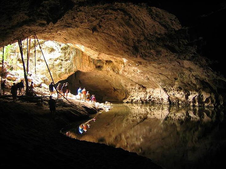 Tunnel Creek, in Bunuba country, carves its way under the Napier Range, Kimberley, WA, Australia