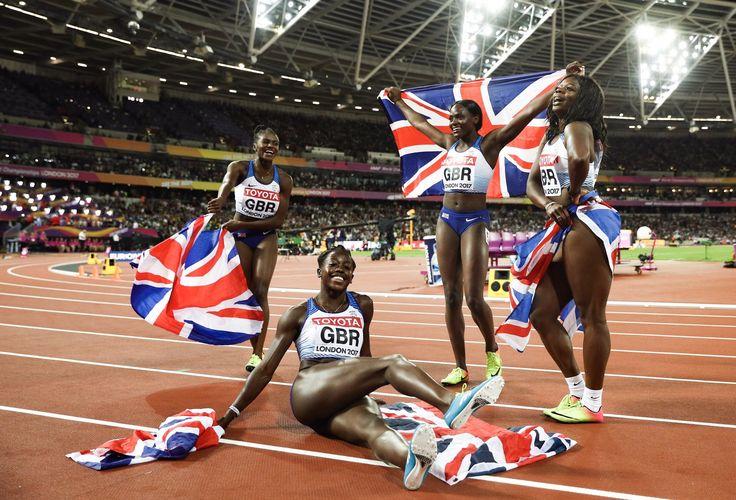 Aug 2017 - World Champ Silver Medal 4x100m -  Desiree Henry, Daryll Saskia Neita, Asha Philip and Dina Asher-Smith