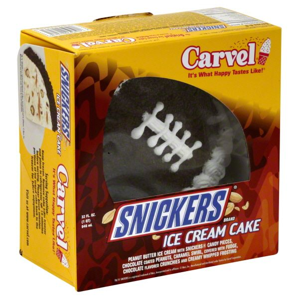 Carvel Snickers Football Ice Cream Cake