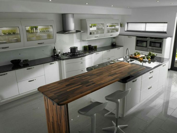 Kitchen trendy white kitchen with minimalist design ideas and trditional wood floating breakfast bar design even cute white cabinet ideas wonderful