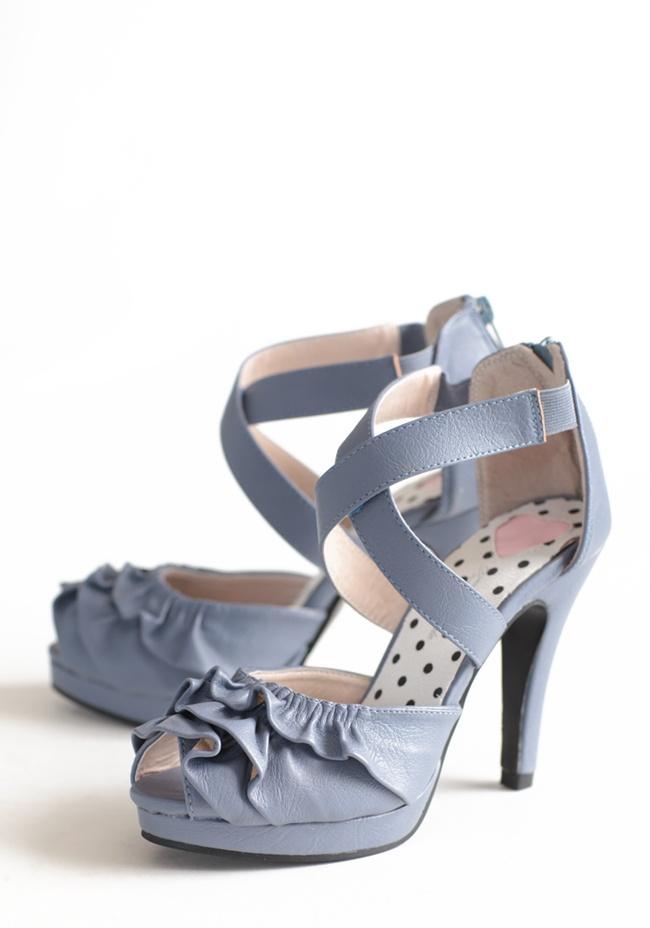 Periwinkle Dreams Ruffle Heels: Style, Beautiful, Periwinkle Shoes, Modern Vintage Shoes, Blue Shoes, Ruffles Heels, Periwinkle Heels, Dreams Ruffles, Periwinkle Dreams