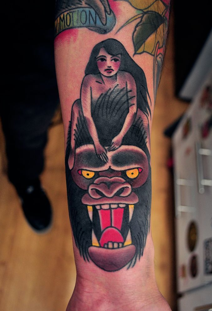 Tattoo Ideas, King Kong Tattoo, Of Of, Tattoos Piercing, Gorilla Tattoo