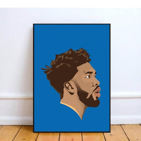 Joel Embiid Wall Decor Art Philadelphia Sixers Poster For Living Room Or Bedroom Gift Idea For Basketball F Wall Art Decor Greeting Card Packaging Wall Decor