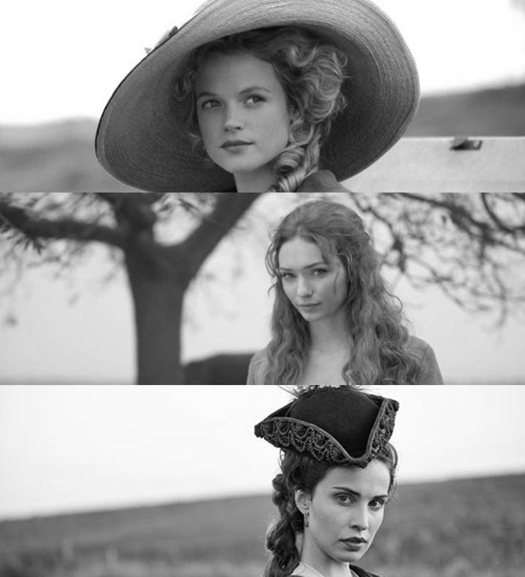 The women of Poldark Three of the four swans