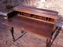 Antique Mahogany Flip Top Secretary Desk