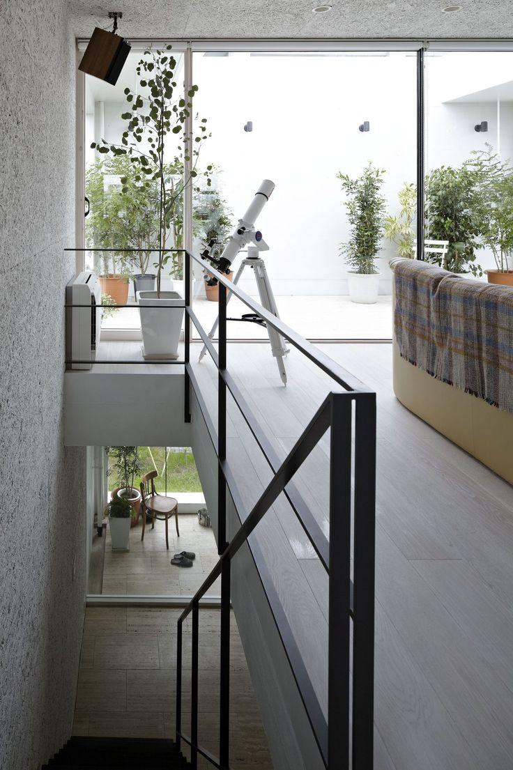 Alternating tread stair revit home design ideas - Galeria De Casa Planter No 555 19 Minimalist House Designdesign