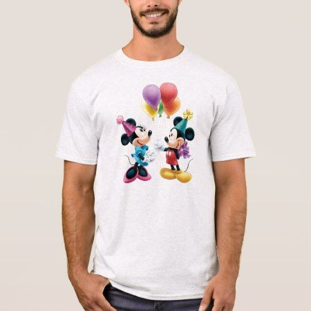 Mickey & Minnie | Birthday T-Shirt - click/tap to personalize and buy