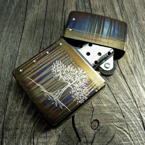COOL ZIPPO LIGHTER. Tree of Life - Hand Engraved Cigarette ...