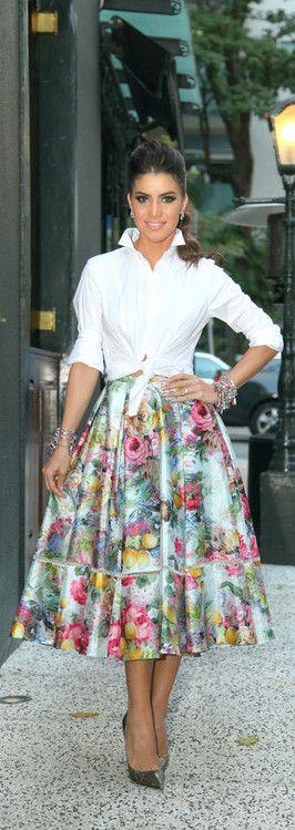 Floral Midi Skirt - SuperVaidosa