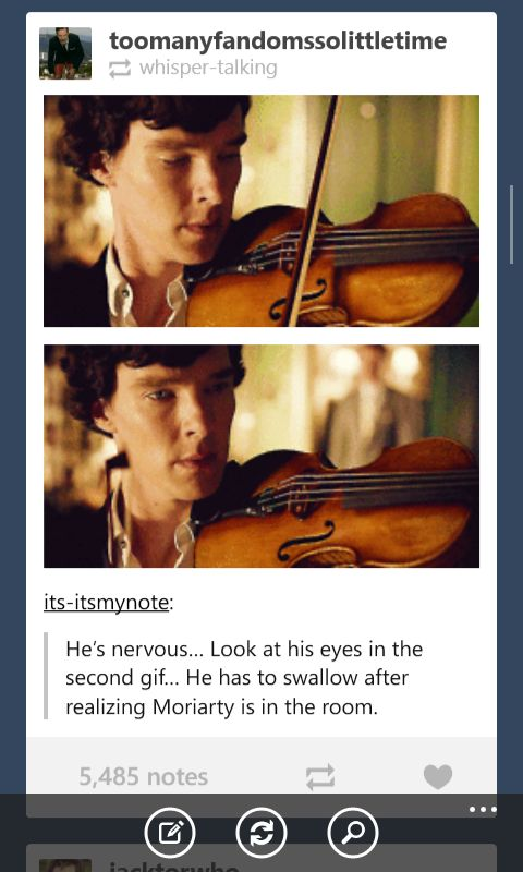 """Most people knock...."" Sherlock showing emotions is strange and beautiful and heartbreaking..."