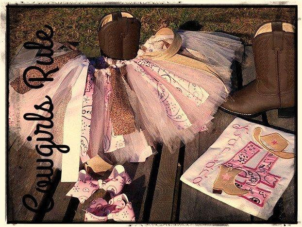 Cowgirl Tutu Birthday Set by CherryBarnOriginals on Etsy
