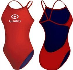 Adoretex Guard Poly Solid Thin Strap Open Back (FGP05) - Red - 28