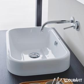 Duravit Happy D.2 countertop basin W: 60 D: 40 cm white with Wondergliss