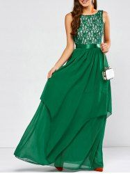 SHARE & Get it FREE | Layered Lace Spliced Chiffon Maxi Prom DressFor Fashion Lovers only:80,000+ Items • New Arrivals Daily • Affordable Casual to Chic for Every Occasion Join Sammydress: Get YOUR $50 NOW!